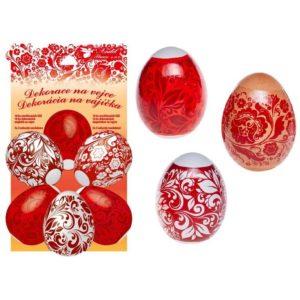 Smršťovací fólie na vejce červená