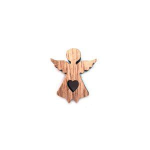 Dřevěný anděl 1 ks
