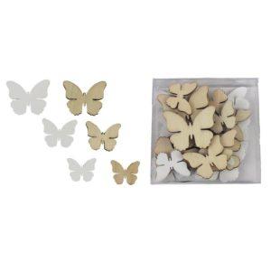 Dřevěný motýl 24 ks