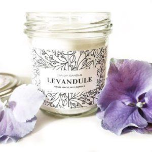 Sójová svíčka LEVANDULE